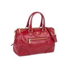 Prada vitello shine satchel bag 2?1548242528