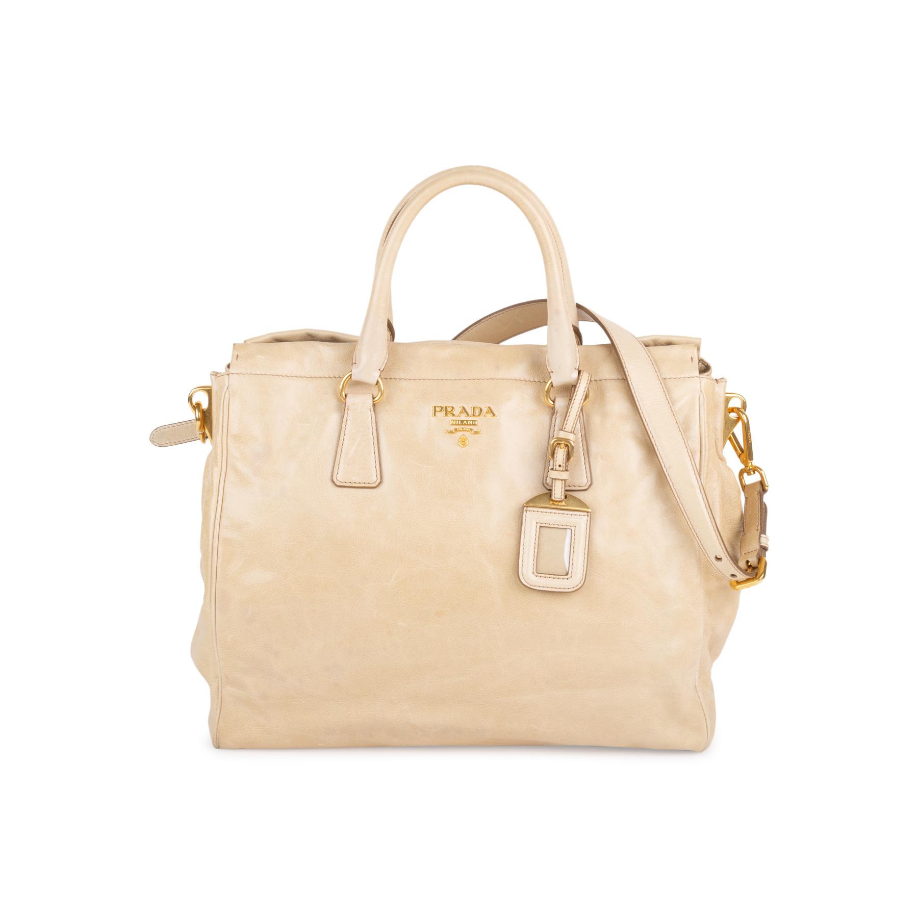 12807d88e28c Authentic Second Hand Prada Vitello Shine Shoulder Tote Bag (PSS-333-00062)
