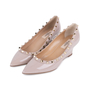 Authentic Pre Owned Valentino Rockstud Patent Wedges (PSS-333-00064) - Thumbnail 3
