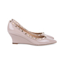 Authentic Second Hand Valentino Rockstud Patent Wedges (PSS-333-00064) - Thumbnail 4