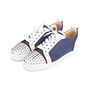 Authentic Pre Owned Christian Louboutin Louis Junior Spiked Denim and Leather Sneakers (PSS-601-00001) - Thumbnail 3
