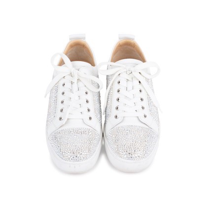 Authentic Second Hand Christian Louboutin Louis Junior Strass Leather Sneakers (PSS-601-00003)