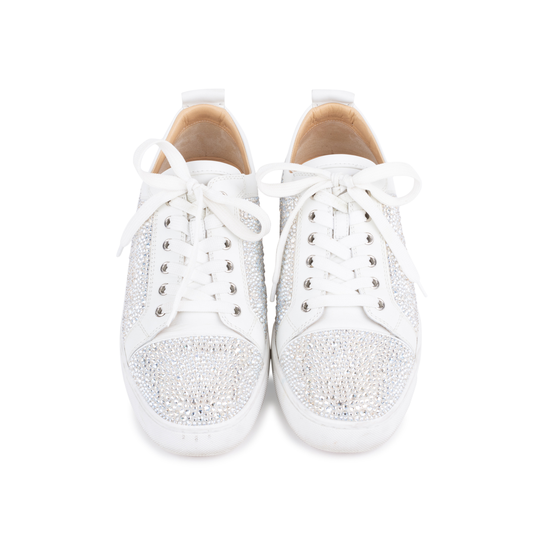 c60bdab0df8d Authentic Second Hand Christian Louboutin Louis Junior Strass Leather  Sneakers (PSS-601-00003)