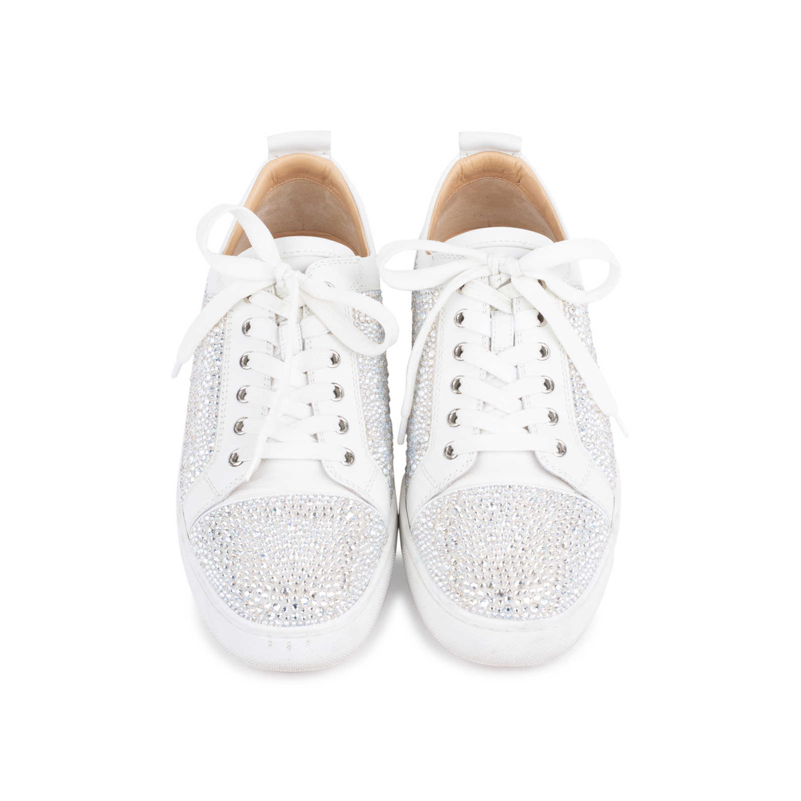 2c59624ae33f Authentic Second Hand Christian Louboutin Louis Junior Strass Leather  Sneakers (PSS-601-00003 ...