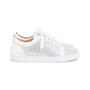 Authentic Second Hand Christian Louboutin Louis Junior Strass Leather Sneakers (PSS-601-00003) - Thumbnail 4