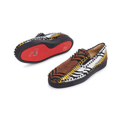 Christian louboutin pik boat python and leather slip on sneakers 2?1548244295