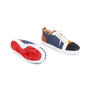 Authentic Second Hand Christian Louboutin Louis Junior Spiked Leather and Denim Sneakers (PSS-601-00005) - Thumbnail 2