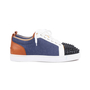 Authentic Second Hand Christian Louboutin Louis Junior Spiked Leather and Denim Sneakers (PSS-601-00005) - Thumbnail 4