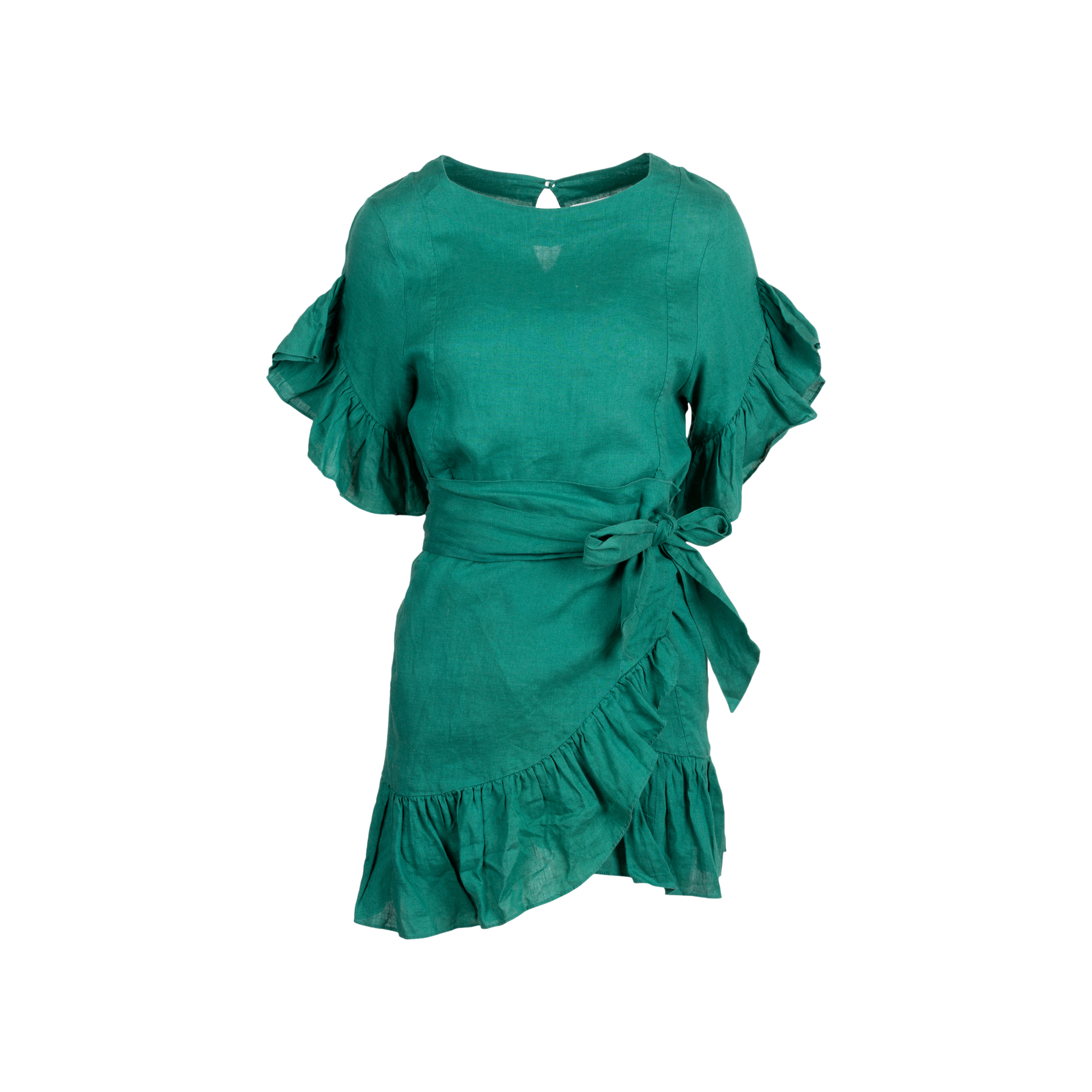 4cf951f66a5 Authentic Second Hand Isabel Marant Étoile Delicia Ruffle-Trim Wrap Dress  (PSS-048-00150)