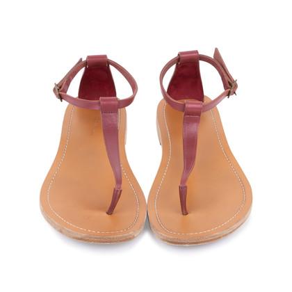 Authentic Second Hand Céline T-Strap Sandals (PSS-599-00011)