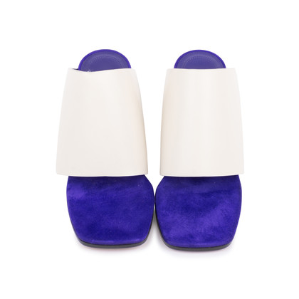 Authentic Second Hand Céline Leather Square-Toe Mules (PSS-599-00013)