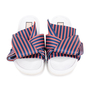 Authentic Second Hand N°21 Knotted Striped Satin Slides (PSS-599-00009) - Thumbnail 0