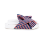 Authentic Second Hand N°21 Knotted Striped Satin Slides (PSS-599-00009) - Thumbnail 4