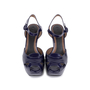 Authentic Second Hand Marni Patent Wedge Sandals (PSS-599-00014) - Thumbnail 0