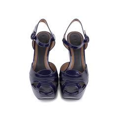 Patent Wedge Sandals