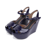 Authentic Second Hand Marni Patent Wedge Sandals (PSS-599-00014) - Thumbnail 3