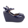 Authentic Second Hand Marni Patent Wedge Sandals (PSS-599-00014) - Thumbnail 4