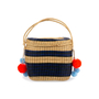 Authentic Pre Owned Sophie Anderson Cinto Striped Wicker Basket Bag (PSS-599-00017) - Thumbnail 1