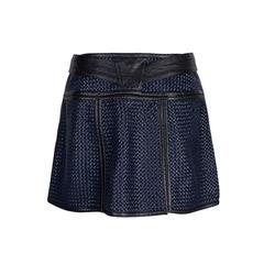 Proenza schouler basket weave leather mini skirt blue 2?1548691742