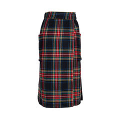 Philosophy di alberta ferretti plaid wool wrap skirt 2?1548691782