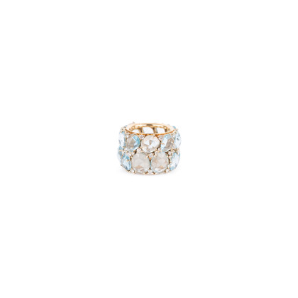Authentic Second Hand Pomellato Lulu Blue Topaz and Diamond Ring (PSS-097-00122)
