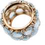Authentic Second Hand Pomellato Lulu Blue Topaz and Diamond Ring (PSS-097-00122) - Thumbnail 6