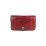 Authentic Second Hand Hermès Rouge H Alligator Dogon Wallet (PSS-097-00125) - Thumbnail 0