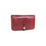 Authentic Second Hand Hermès Rouge H Alligator Dogon Wallet (PSS-097-00125) - Thumbnail 2