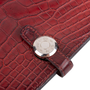 Authentic Second Hand Hermès Rouge H Alligator Dogon Wallet (PSS-097-00125) - Thumbnail 5