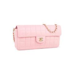 Chanel square quilt east west flap bag 2?1548834093