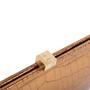 Authentic Second Hand Lambertson Truex Crocodile Frame Clutch (PSS-097-00138) - Thumbnail 4