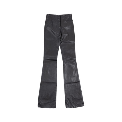 Authentic Pre Owned Jitrois Black Leather Flare Pants (PSS-049-00055)