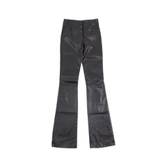 Black Leather Flare Pants