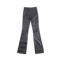 Jitrois black leather flare pants 2?1548841840