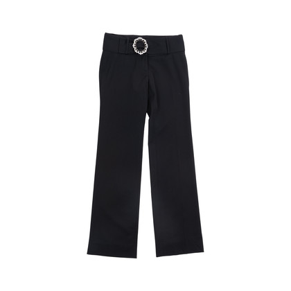Authentic Pre Owned Dolce & Gabbana Belted Straight Leg Pants (PSS-049-00056)