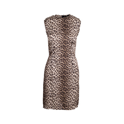 Authentic Second Hand Lanvin Leopard Printed Dress (PSS-049-00057)