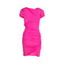 Authentic Pre Owned Balenciaga Silk Ruched Fuschia Dress (PSS-049-00059) - Thumbnail 1