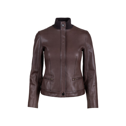 Authentic Pre Owned Hermès Brown Leather Jacket (PSS-049-00065)