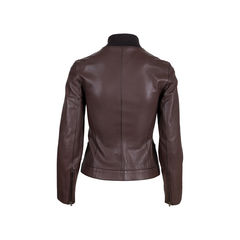 Hermes brown leather jacket 2?1548842065