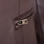 Authentic Pre Owned Hermès Brown Leather Jacket (PSS-049-00065) - Thumbnail 3