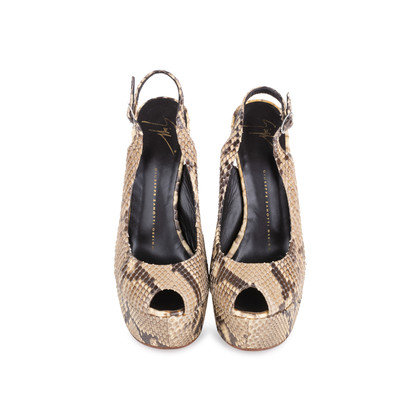Authentic Pre Owned Giuseppe Zanotti Python Slingback Sandals (PSS-049-00067)