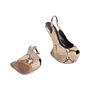 Authentic Pre Owned Giuseppe Zanotti Python Slingback Sandals (PSS-049-00067) - Thumbnail 2