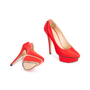 Authentic Second Hand Charlotte Olympia Paloma Fan Pleat Satin Pumps (PSS-049-00068) - Thumbnail 2