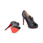 Authentic Pre Owned Christian Louboutin Moro Black Ankle Boots (PSS-049-00069) - Thumbnail 2