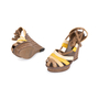 Authentic Second Hand Bottega Veneta Raffia Ankle Wrap Platform Sandals (PSS-049-00071) - Thumbnail 1