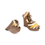 Authentic Second Hand Bottega Veneta Raffia Ankle Wrap Platform Sandals (PSS-049-00071) - Thumbnail 2