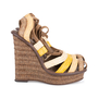 Authentic Second Hand Bottega Veneta Raffia Ankle Wrap Platform Sandals (PSS-049-00071) - Thumbnail 4