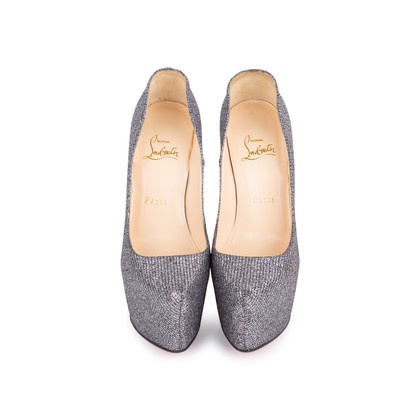 Authentic Second Hand Christian Louboutin Metallic Sequinned Daffodile Pumps (PSS-049-00072)