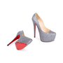 Authentic Second Hand Christian Louboutin Metallic Sequinned Daffodile Pumps (PSS-049-00072) - Thumbnail 5