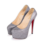 Authentic Second Hand Christian Louboutin Metallic Sequinned Daffodile Pumps (PSS-049-00072) - Thumbnail 2